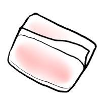 淡い色のポケットティッシュ