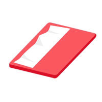 赤いポケットティッシュ